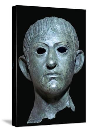 Head of the Emperor Claudius, Roman Britain, 1st century AD. Artist: Unknown-Unknown-Stretched Canvas Print
