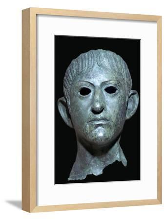 Head of the Emperor Claudius, Roman Britain, 1st century AD. Artist: Unknown-Unknown-Framed Giclee Print