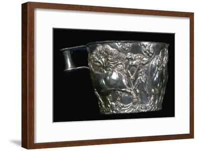 Gold Mycenaean cup, 15th century. Artist: Unknown-Unknown-Framed Giclee Print