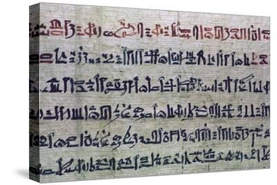 Hieratic Egyptian script from the Book of the Dead. Artist: Unknown-Unknown-Stretched Canvas Print