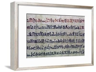 Hieratic Egyptian script from the Book of the Dead. Artist: Unknown-Unknown-Framed Giclee Print