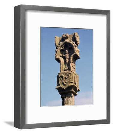 Gothic pillar-cross with the earliest known three legs of Man, 14th century. Artist: Unknown-Unknown-Framed Photographic Print
