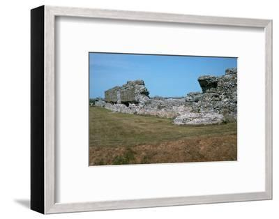 Walls of the Roman port of Richborough, 1st century. Artist: Unknown-Unknown-Framed Photographic Print