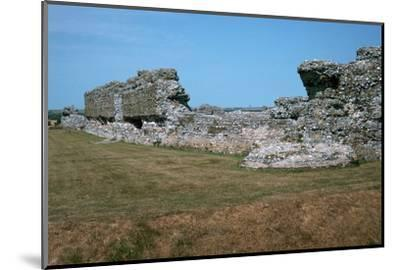 Walls of the Roman port of Richborough, 1st century. Artist: Unknown-Unknown-Mounted Photographic Print