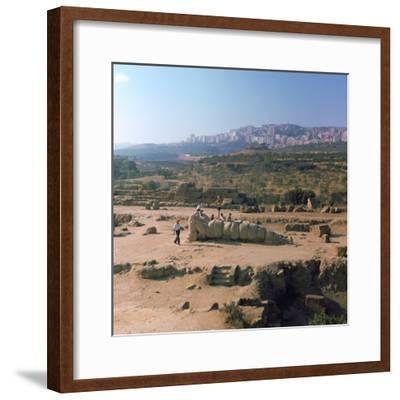 Greek temple of Olympian Zeus on Sicily, 5th century. Artist: Unknown-Unknown-Framed Photographic Print