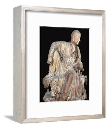 Statuette of a disciple of the Buddha, 14th century. Artist: Unknown-Unknown-Framed Giclee Print