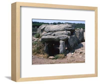 Dolmen at Kermario in Brittany, c,36th century BC. Artist: Unknown-Unknown-Framed Photographic Print