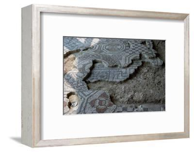 Medusa-head mosaic from Fishbourne Roman palace. Artist: Unknown-Unknown-Framed Photographic Print