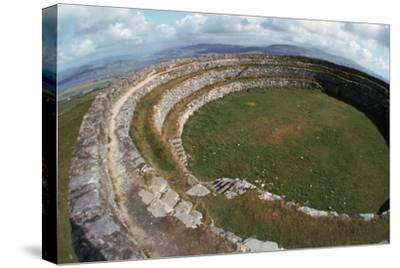 Grianan of Aileach Hillfort, 6th-7th century. Artist: Unknown-Unknown-Stretched Canvas Print