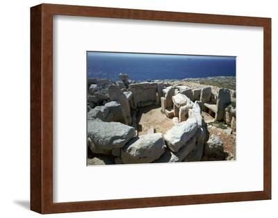 Copper Age temple at Mnajdra in Malta. Artist: Unknown-Unknown-Framed Photographic Print