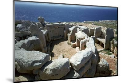 Copper Age temple at Mnajdra in Malta. Artist: Unknown-Unknown-Mounted Photographic Print