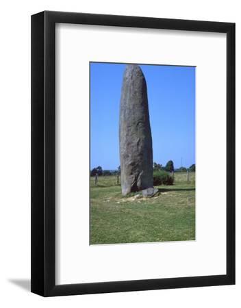 Champ-Dolent Menhir. Artist: Unknown-Unknown-Framed Photographic Print