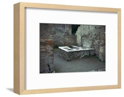 Roman food-shop in Herculaneum, 1st century. Artist: Unknown-Unknown-Framed Photographic Print