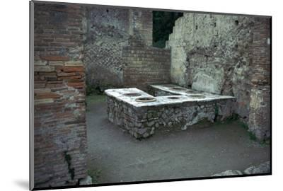 Roman food-shop in Herculaneum, 1st century. Artist: Unknown-Unknown-Mounted Photographic Print