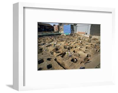 Shot of the Big Dig. Artist: Unknown-Unknown-Framed Photographic Print