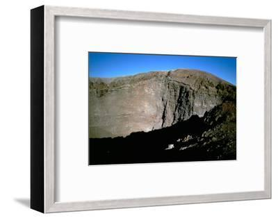 View of the crater of Mt Vesuvius. Artist: Unknown-Unknown-Framed Photographic Print