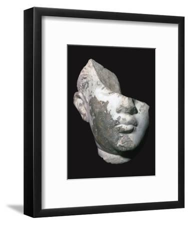 Fragment of a marble head of a youth, 1st century. Artist: Unknown-Unknown-Framed Giclee Print