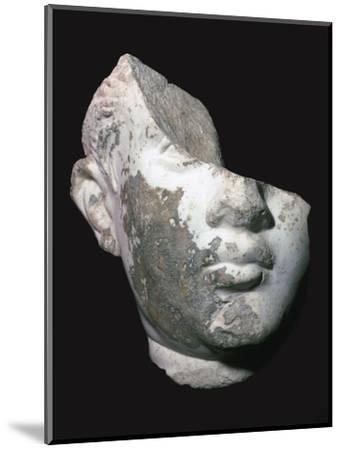 Fragment of a marble head of a youth, 1st century. Artist: Unknown-Unknown-Mounted Giclee Print