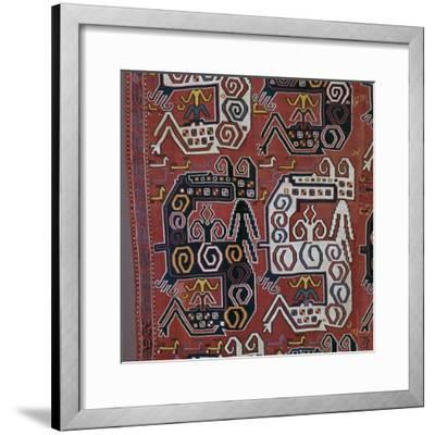 Caucasian 'dragon' rug with stags, 17th century. Artist: Unknown-Unknown-Framed Giclee Print