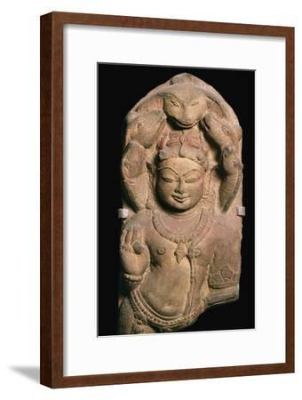 Naga, a snake divinity with heads of a five-headed serpent, 1oth century. Artist: Unknown-Unknown-Framed Giclee Print