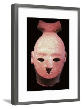 Head of a Haniwa tomb figure, 6th century. Artist: Unknown-Unknown-Framed Giclee Print