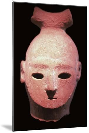 Head of a Haniwa tomb figure, 6th century. Artist: Unknown-Unknown-Mounted Giclee Print