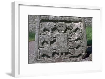 Depiction of Daniel in the Lion's Den on the Moone Cross, 7th century. Artist: Unknown-Unknown-Framed Giclee Print