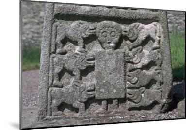 Depiction of Daniel in the Lion's Den on the Moone Cross, 7th century. Artist: Unknown-Unknown-Mounted Giclee Print