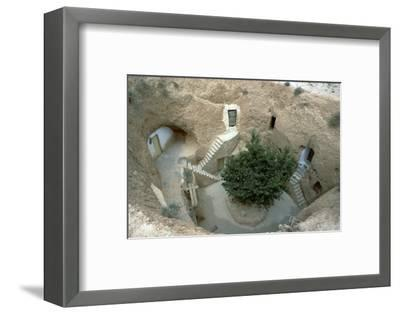 Pit-dwelling in Tunisia. Artist: Unknown-Unknown-Framed Photographic Print