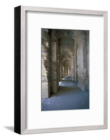 Roman amphitheatre in El Djem, 3rd century. Artist: Unknown-Unknown-Framed Photographic Print