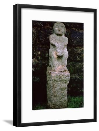 Stone figure from a Mithraeum near Hadrian's Wall, 3rd century. Artist: Unknown-Unknown-Framed Giclee Print