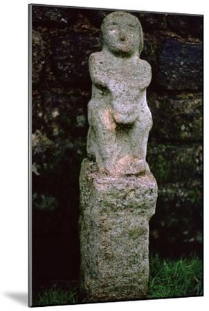Stone figure from a Mithraeum near Hadrian's Wall, 3rd century. Artist: Unknown-Unknown-Mounted Giclee Print