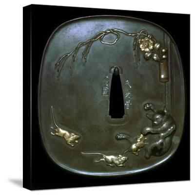 Japanese shield-guard. Artist: Unknown-Unknown-Stretched Canvas Print
