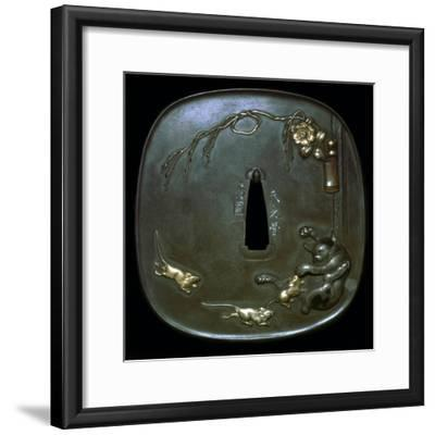 Japanese shield-guard. Artist: Unknown-Unknown-Framed Giclee Print