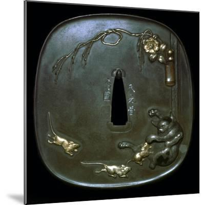 Japanese shield-guard. Artist: Unknown-Unknown-Mounted Giclee Print
