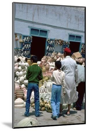 Pottery shop in Kairouan in Tunisia. Artist: Unknown-Unknown-Mounted Photographic Print
