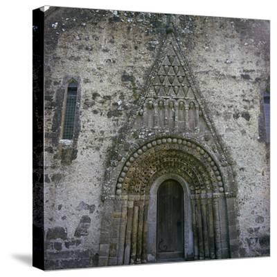West doorway of Clonfert Cathedral, 12th century. Artist: Unknown-Unknown-Stretched Canvas Print
