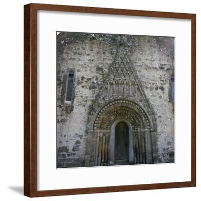 West doorway of Clonfert Cathedral, 12th century. Artist: Unknown-Unknown-Framed Photographic Print