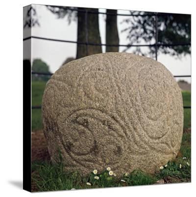 The Castlestrange Stone, 1st century. Artist: Unknown-Unknown-Stretched Canvas Print