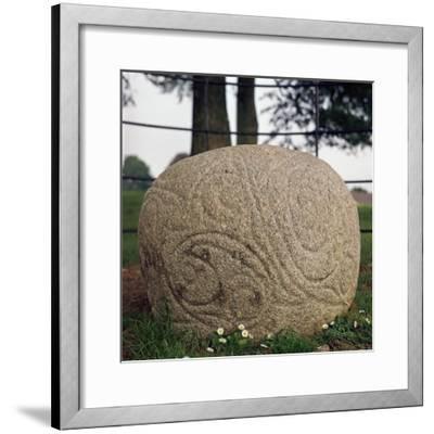 The Castlestrange Stone, 1st century. Artist: Unknown-Unknown-Framed Giclee Print