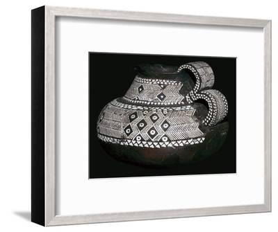 Celtic jug with double handles and volute decorations, 8th century BC. Artist: Unknown-Unknown-Framed Giclee Print