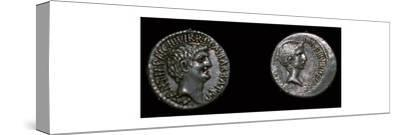 Coins of Mark Antony and Octavian, 1st century BC. Artist: Unknown-Unknown-Stretched Canvas Print