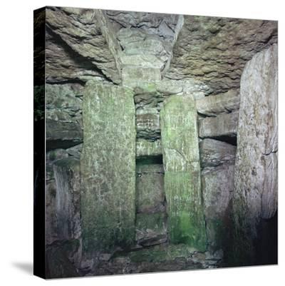 Interior of a Neolithic Passage Grave, 33rd-25th century BC. Artist: Unknown-Unknown-Stretched Canvas Print