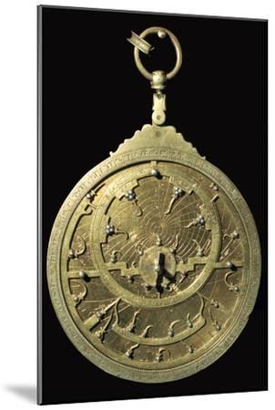 Arabic 18th century planispheric astrolabe, 18th century. Artist: Unknown-Unknown-Mounted Giclee Print