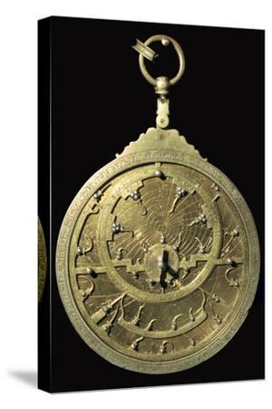 Arabic 18th century planispheric astrolabe, 18th century. Artist: Unknown-Unknown-Stretched Canvas Print