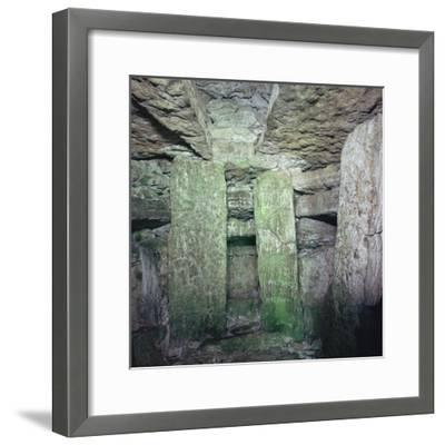 Interior of a Neolithic Passage Grave, 33rd-25th century BC. Artist: Unknown-Unknown-Framed Photographic Print