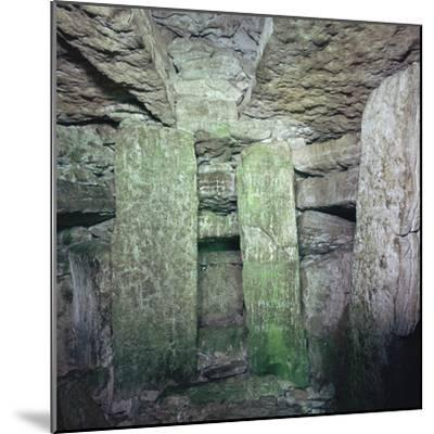 Interior of a Neolithic Passage Grave, 33rd-25th century BC. Artist: Unknown-Unknown-Mounted Photographic Print