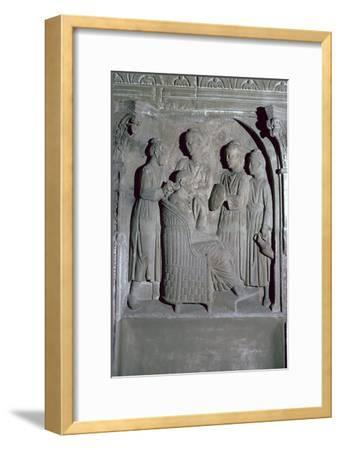 Depiction of Roman women's hair dressing on an altar. Artist: Unknown-Unknown-Framed Giclee Print