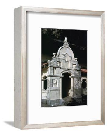 Entrance to Buddhist cave-temple shrine in Sri Lanka, 1st century. Artist: Unknown-Unknown-Framed Photographic Print