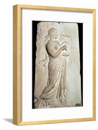 Neo-Attic relief of the Muse Citharide. Artist: Unknown-Unknown-Framed Giclee Print